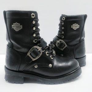 Harley Davidson Riding Boot Black Leather Size 6